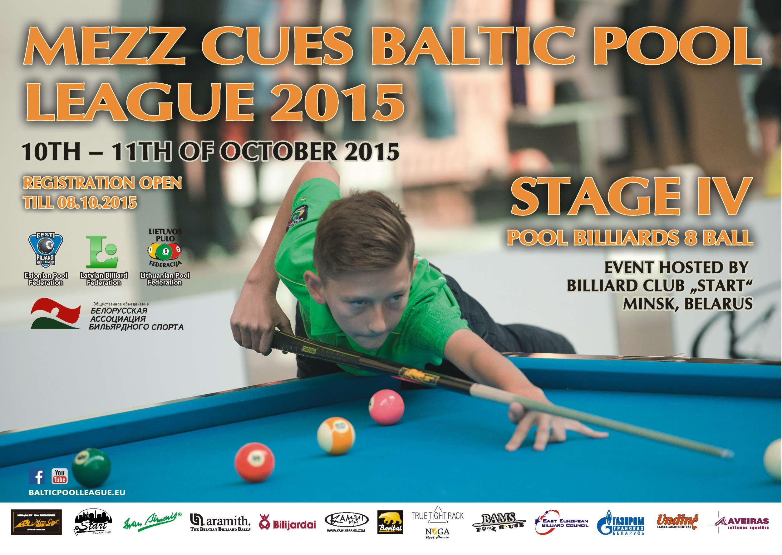 Mezz Cues Baltic Pool League 2015